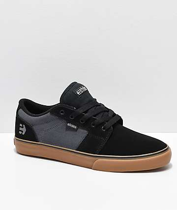Etnies Barge LS Black, Dark Grey & Gum Skate Shoes