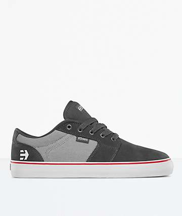 Etnies Barge LS Black, Grey & Silver Skate Shoes