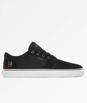 Etnies Barge LS Black & Bronze Skate Shoes