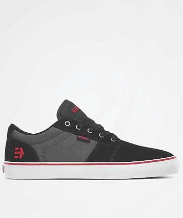 Etnies Barge LS Black & Dark Grey Skate Shoes