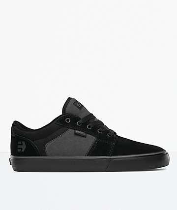 Etnies Barge LS Black & Grey Skate Shoes