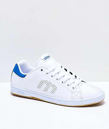 Etnies Callicut LS zapatos de skate en blanco, azul y goma