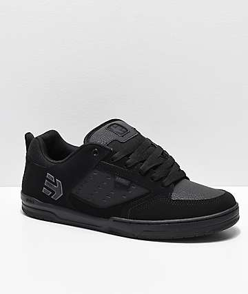 Etnies Cartel All Black Nubuck Skate Shoes