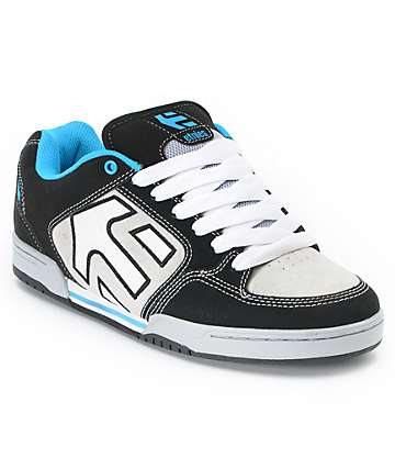 Etnies Charter Black, White & Blue Skate Shoes