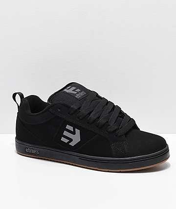 Etnies Drexel zapatos de skate de nubuck en negro, gris y goma