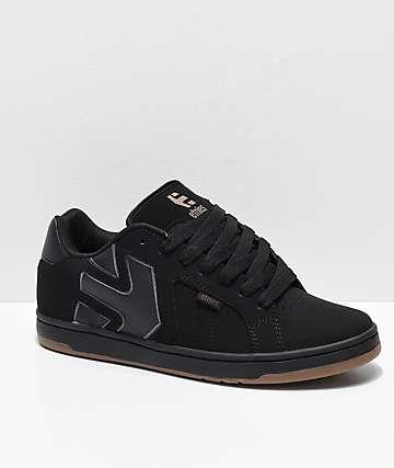 Etnies Fader 2 zapatos de skate de nubuck en negro y goma