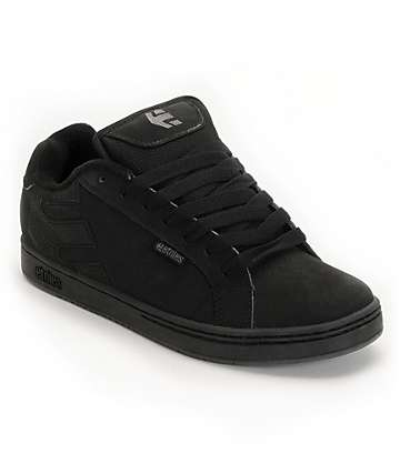 Etnies Fader Black & Grey Skate Shoes