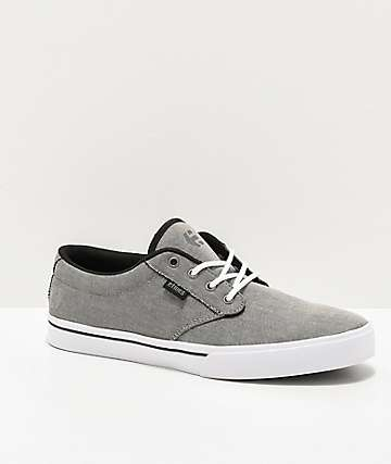 Etnies Jameson 2 Eco Ash Grey & White Skate Shoes