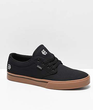 Etnies Jameson 2 Eco Black, Gum & Silver Skate Shoes