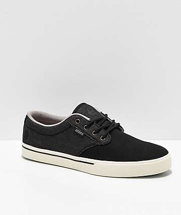 Etnies Jameson 2 Eco Black, White & Gold Skate Shoes