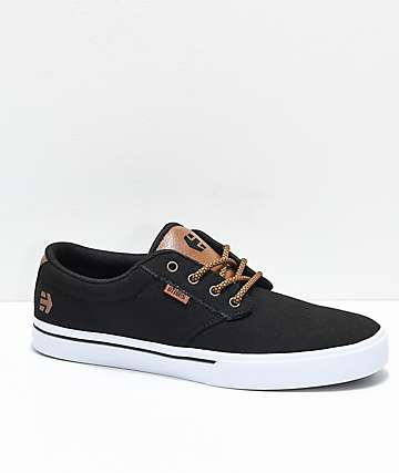 Etnies Jameson 2 Eco Black & White Canvas Skate Shoes