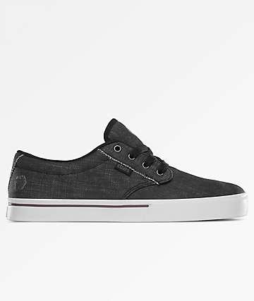 Etnies Jameson 2 Eco Black Dirty Wash Skate Shoes