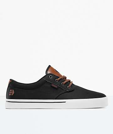 Etnies Jameson 2 Eco Black Raw Skate Shoes