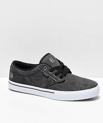 Etnies Jameson 2 Eco Dirty Wash zapatos de skate en negro