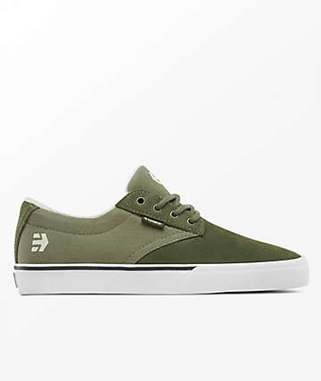 Etnies Jameson Vulc Olive & White Shoes