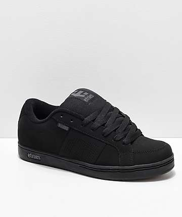 2273edcae8 Etnies Kingpin Black   Black Skate Shoes