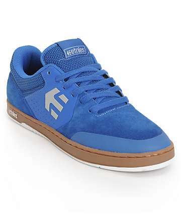 Etnies Marana Blue & Gum Suede Skate Shoes