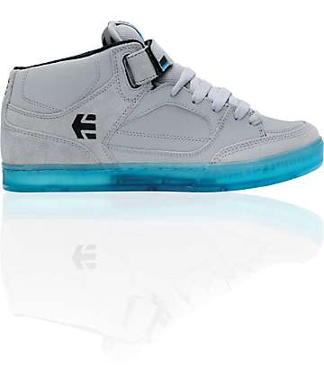 Etnies Number Grey & Blue Mid Skate Shoes