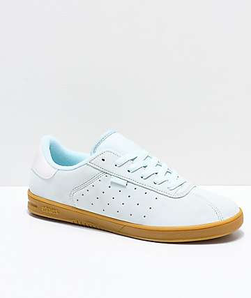 Etnies Scam Light Blue & Gum Skate Shoes