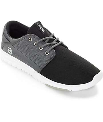 Etnies Scout Black, Dark Grey, & Silver Shoes