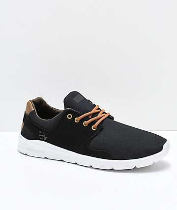 Etnies Scout XT Black, Brown & White Shoes
