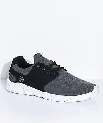 Etnies Scout XT Black Grey  Heather Silver Shoes