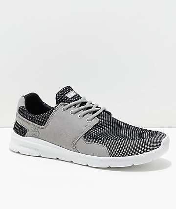 Etnies Scout XT zapatos de punto gris, negro y blanco