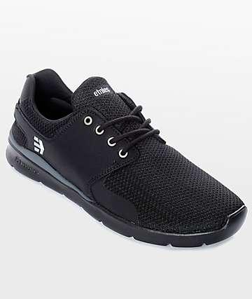 Etnies Scout XT zapatos en negro y color plata