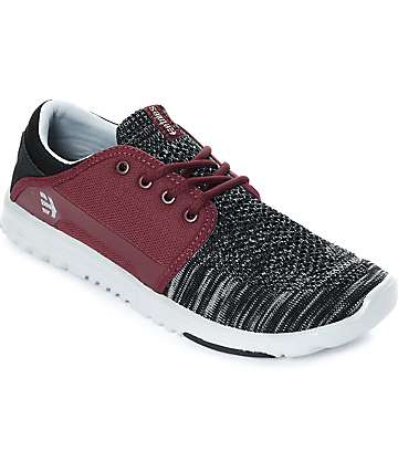 Etnies Scout Yarnbomb Black, Grey & Red Shoes