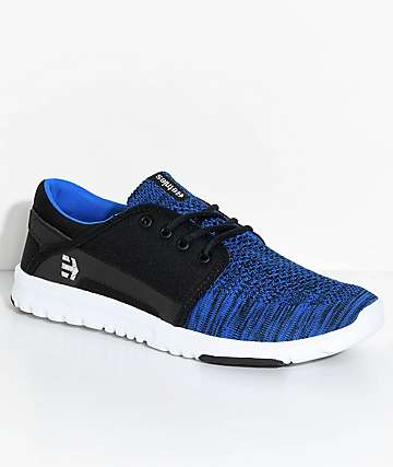 Etnies Scout Yarnbomb Black & Blue Shoes