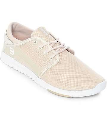 Etnies Scout zapatos en blanco y marrón