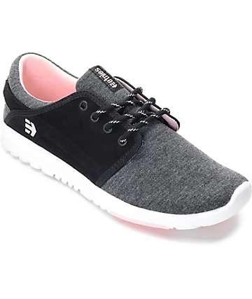 Etnies Scout zapatos en negro, gris y rosa para mujeres