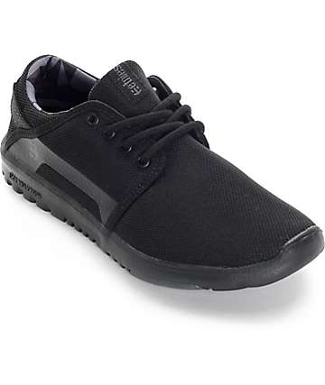 Etnies Scout zapatos todo negro (mujer)