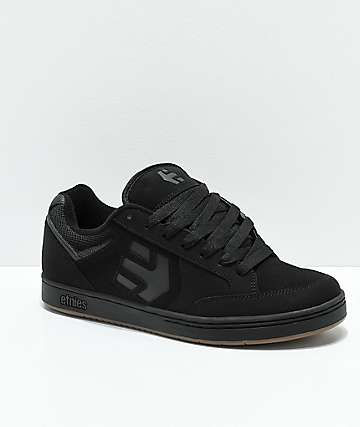 Etnies Swivel Black & Gum Skate Shoes