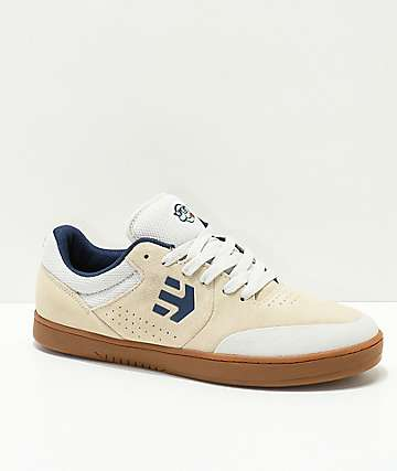 Etnies x Happy Hour Marana Tancowny White & Gum Skate Shoes