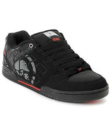 Etnies x Metal Mulisha Charter Black & Red Shoes