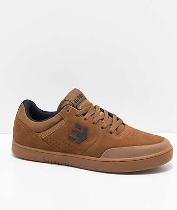 Etnies x Michelin Marana Brown & Gum Skate Shoes