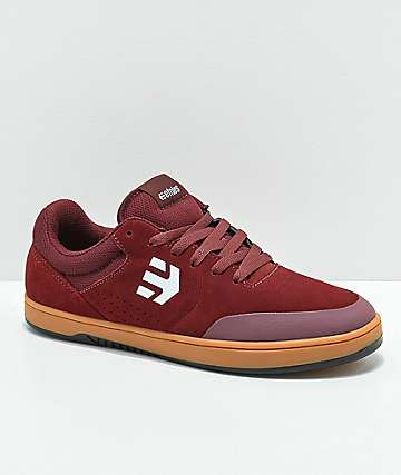 Etnies x Michelin Marana Burgundy & Gum Skate Shoes