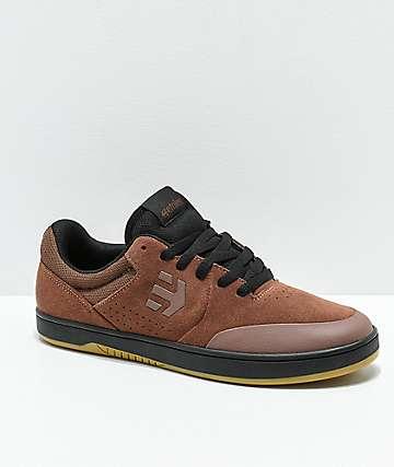 Etnies x Michelin Marana zapatos de skate en marrón. negro y goma