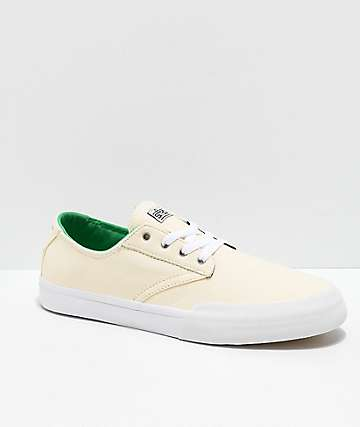 Etnies x Sheep Jameson Vulc LS White & Green Skate Shoes