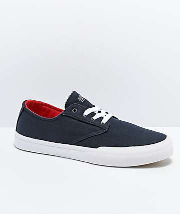 Etnies x Sheep Jameson Vulc Navy Skate Shoes