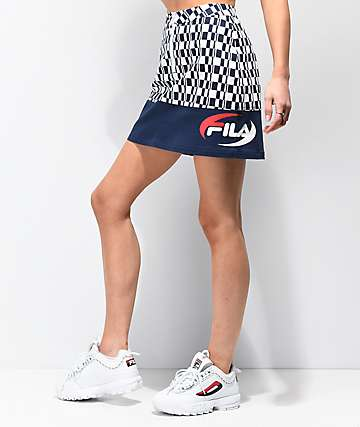 FILA Angelica Navy & White Mini Skirt
