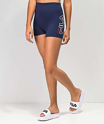 a4c9c88d0885 FILA Beatriz High Waist Navy Bike Shorts