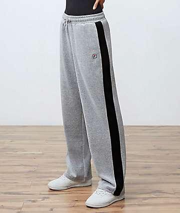 FILA Bonnie Grey Velour Pants