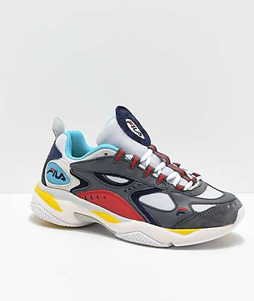 FILA Boveasorus Grey, Blue & Red Shoes