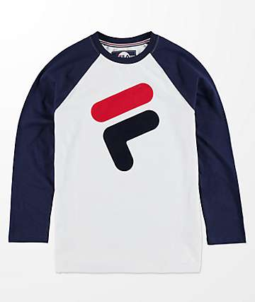 FILA Boys Blue & White Raglan T-Shirt