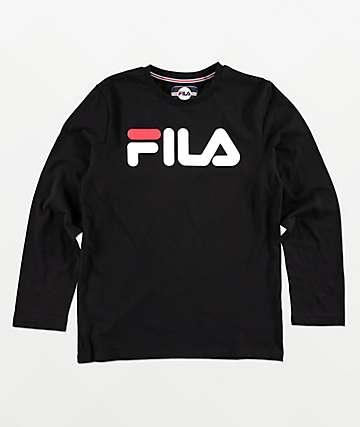 27880f81d FILA Boys Classic Logo Black Long Sleeve T-Shirt