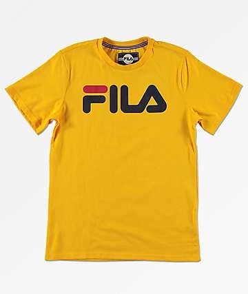 FILA Boys Classic Logo Citrus T-Shirt