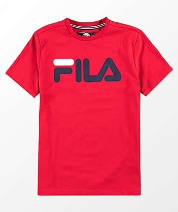 FILA Boys Classic Logo Red T-Shirt