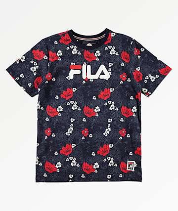 0d3b250dc FILA Boys Floral Printed Navy T-Shirt